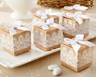 "Wedding Favor Boxes - Kate Aspen ""Rustic Romance"" Kraft Lace Favor Box (Set of 24)"