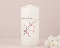 Wedding Decorations - Weddingstar Cherry Blossom Personalized Pillar Candles