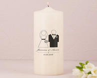 Wedding Ceremony - Weddingstar Bride and Groom Personalized Unity Candle