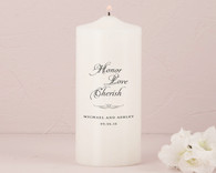 Wedding Ceremony - Weddingstar Honor Love Cherish Personalized Unity Candle