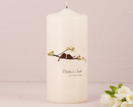 Wedding Decoration - Weddingstar Love Bird Personalized Pillar Candles