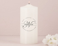 Wedding Decoration - Weddingstar Family Circle Monogram Personalized Unity Candle