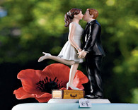 "Wedding Cake Toppers - Weddingstar ""A Kiss and We're Off!"" Figurine Light Skin Tone"
