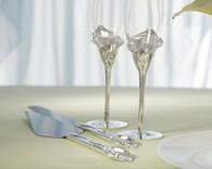 Wedding Reception - Weddingstar Calla Lily Cake Serving Set