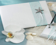 Wedding Reception - Weddingstar Seaside Allure Traditional Guest Book