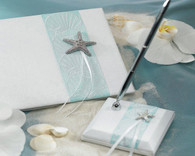 Wedding Reception - Weddingstar Seaside Allure Satin Wrapped Pen Set