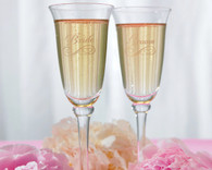 Wedding Accessories - Weddingstar Etched Wedding Champagne Flutes Bride and Groom Flute Set