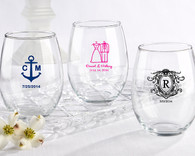 Bridal Shower Favors, Wedding Favors Canada - Kate Aspen Personalized Stemless Wine Glass 15oz