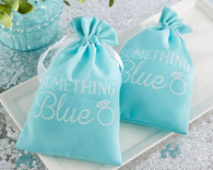 "Bridal Shower Favors-""Something Blue"" Muslin Favor Bag (Set of 12)to make your day special"