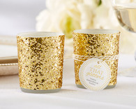 Wedding Favours - All That Glitters Gold Glitter Votive/Tealight Holder (Set of 4)