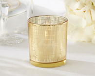 Wedding Favors - Classic Gold Stripe Tealight Holder (Set of 4)