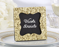 "Wedding Favors - ""All that Glitters"" Gold Glitter Frame"