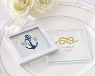 Glass Coaster Gift Sleeve for personalized glass coasters