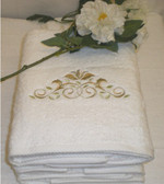 Roma Leaf Embroidered Towels