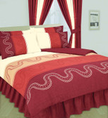 Red Printed Duvet Cover + Free Pillowcases
