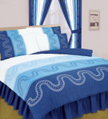 Navy Bumper Bedding Set