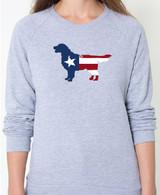 Righteous Hound - Unisex Patriot Golden Retriever Sweatshirt