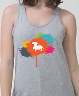 Righteous Hound - Unisex Splatter Dachshund Tank