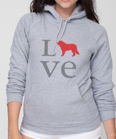 Unisex Love Bernese Mountain Dog Hoodie