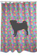 Righteous Hound - Circle Pug Shower Curtain