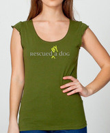 Womens Rescued By A Dog Cap Sleeve