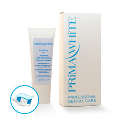 Carbamide Peroxide based Prima White Brushing Gel is a powerful whitening agent, Ideal for whitening teeth and keeping your teeth white after teeth bleaching. This after care product is safe enough to use every day. You will see stain slowly disappear the first week of using this wonderful product. It comes in a 2.1 oz tube.