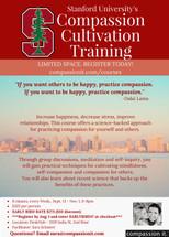 Compassion Cultivation Training 8 Wednesdays, Sept 13-Nov 1, 2017 Facilitator: Sara Schairer