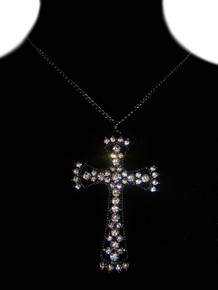 1 Piece Cross Rhinestone Necklace