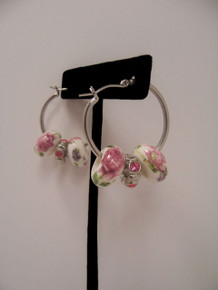 Small Floral Hoop Earrings