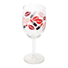 2-Piece Lipstick Wine Glasses, 10 oz.