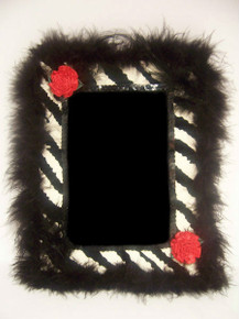 Black/White Zebra Print Picture Frame