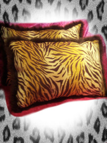 2-Piece Decorative Tiger Print Pillow Set