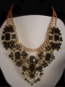 NEW! Black/Crystal Luxury Fashion Necklace