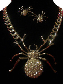 Halloween Spider Necklace/Earing Set
