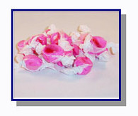 -Schooner Pete's Red Raspberry Salt Water Taffy - 1/2 lb