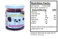 Cow Jam SEEDLESS  MARIONBERRY JAM - 12 oz. jar