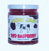 Cow Jam OREGON RED  RASPBERRY JAM - 12 oz. jar