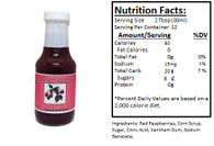 NORTHWEST BERRY GROWERS RED RASPBERRY FRUIT SYRUP