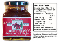 Strawberry Rhubarb Preserves by Gloria's Gourmet (12 oz jar )