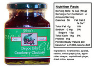 Cranberry Chutney by Gloria's Gourmet