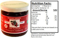 Genuine Oregon Coastal Cranberry Fruit Sweet - 10oz Jar