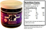 Genuine Oregon Seedless Blackberry Fruit Sweet - 10oz Jar