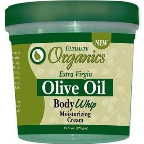 Africa's Best Ultimate Organics Olive Oil Body Whip Moisturzing Cream 15oz
