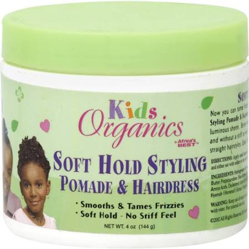 Africa's Best Kids Organics Pomade & Hairdress, Soft Hold Styling - 4 oz