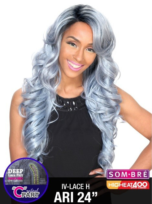 Zury Sister Wig Invisible Top Natural C Part Remy Fiber Lace Wig- IV LACE H ARI 24""