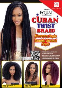 "Freetress Equal Cuban Twist Braid 12"""