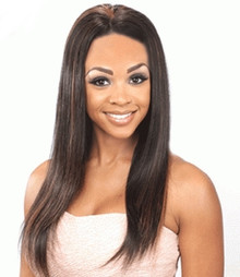 WannaBe 100% Indian Remy Human Hair Full Lace Wig Amber