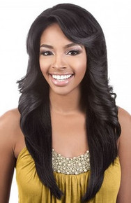Beshe Lady Lace Swiss Deep Part Synthetic Hair Wig - LLSP-123 (Curling Iron)