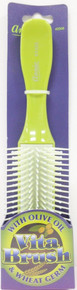 ANNIE VITA BRUSH WITH OLIVE OIL & WHEAT GERM HIGH QUALITY GREEN BRUSH #2308