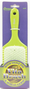 ANNIE VITA BRUSH WITH OLIVE OIL WHEAT GERM LARGE PADDLE GREEN BRUSH GREEN #2307